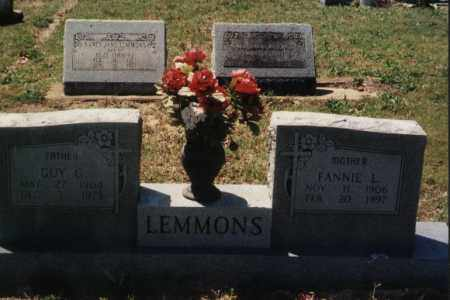 IVY LEMMONS, FANNIE 'FANNY' L - Randolph County, Arkansas | FANNIE 'FANNY' L IVY LEMMONS - Arkansas Gravestone Photos