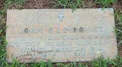 LINDQUIST (VETERAN SAW), JOHN E - Randolph County, Arkansas   JOHN E LINDQUIST (VETERAN SAW) - Arkansas Gravestone Photos