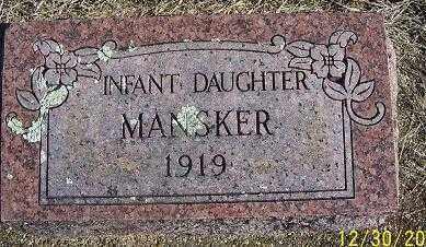 MANSKER, INFANT DAUGHTER - Randolph County, Arkansas | INFANT DAUGHTER MANSKER - Arkansas Gravestone Photos