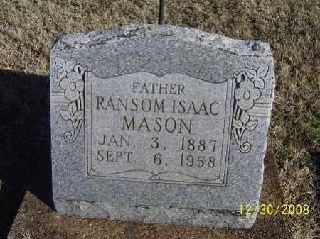 MASON, RANSOM ISAAC - Randolph County, Arkansas | RANSOM ISAAC MASON - Arkansas Gravestone Photos