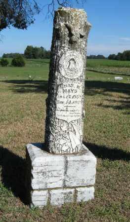 MAYS, CHARLES W. - Randolph County, Arkansas   CHARLES W. MAYS - Arkansas Gravestone Photos
