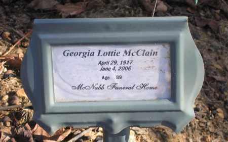 YOUNG MCCLAIN, GEORGIA LOTTIE - Randolph County, Arkansas | GEORGIA LOTTIE YOUNG MCCLAIN - Arkansas Gravestone Photos