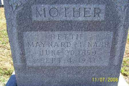 MAYNARD MCNABB, BETTIE - Randolph County, Arkansas   BETTIE MAYNARD MCNABB - Arkansas Gravestone Photos