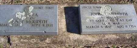 MERIDITH, LUTISHA 'TISH' - Randolph County, Arkansas | LUTISHA 'TISH' MERIDITH - Arkansas Gravestone Photos