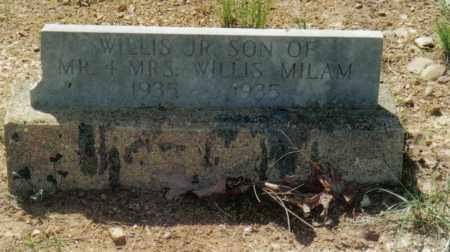 MILAM, JR., WILLIS - Randolph County, Arkansas   WILLIS MILAM, JR. - Arkansas Gravestone Photos