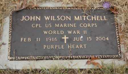 MITCHELL (VETERAN WWII), JOHN WILSON - Randolph County, Arkansas | JOHN WILSON MITCHELL (VETERAN WWII) - Arkansas Gravestone Photos