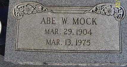 MOCK, ABE W. - Randolph County, Arkansas | ABE W. MOCK - Arkansas Gravestone Photos