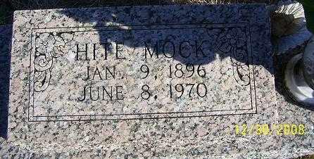 MOCK, HITE - Randolph County, Arkansas   HITE MOCK - Arkansas Gravestone Photos