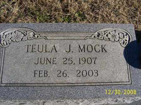 MOCK J., TEULA - Randolph County, Arkansas | TEULA MOCK J. - Arkansas Gravestone Photos