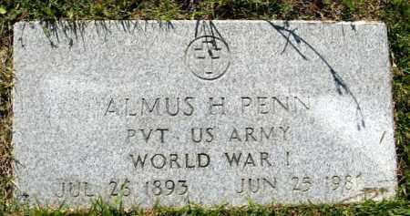 PENN  (VETERAN WWI), ALMUS H. - Randolph County, Arkansas   ALMUS H. PENN  (VETERAN WWI) - Arkansas Gravestone Photos