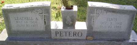 PETERO, LEATHELL A. - Randolph County, Arkansas | LEATHELL A. PETERO - Arkansas Gravestone Photos