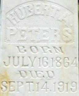 PETERS, HUBERT A.  CLOSE UP - Randolph County, Arkansas | HUBERT A.  CLOSE UP PETERS - Arkansas Gravestone Photos