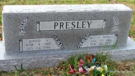 PRESLEY, DAVID A - Randolph County, Arkansas | DAVID A PRESLEY - Arkansas Gravestone Photos