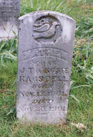 RAGSDELL, MATHEW - Randolph County, Arkansas | MATHEW RAGSDELL - Arkansas Gravestone Photos