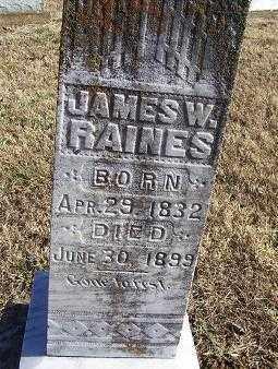 RAINES, JAMES W. - Randolph County, Arkansas | JAMES W. RAINES - Arkansas Gravestone Photos