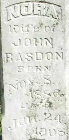 RASDON, NORA - Randolph County, Arkansas | NORA RASDON - Arkansas Gravestone Photos