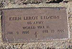 REDWINE (VETERAN WWII), KERN LEROY - Randolph County, Arkansas   KERN LEROY REDWINE (VETERAN WWII) - Arkansas Gravestone Photos