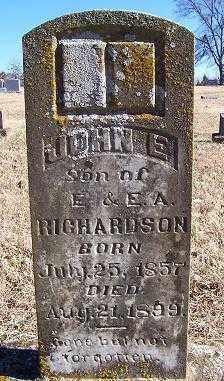RICHARDSON, JOHN E. - Randolph County, Arkansas   JOHN E. RICHARDSON - Arkansas Gravestone Photos