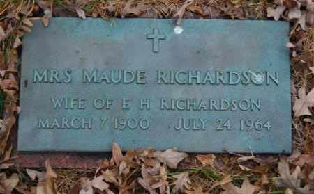 RICHARDSON, MAUDE - Randolph County, Arkansas | MAUDE RICHARDSON - Arkansas Gravestone Photos