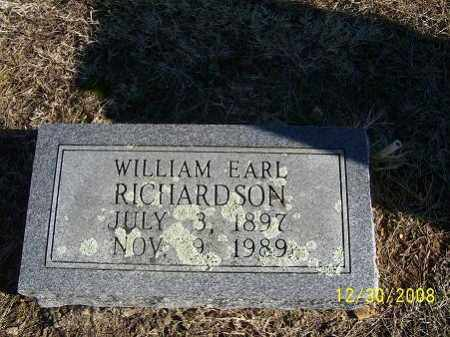 RICHARDSON, WILLIAM EARL - Randolph County, Arkansas | WILLIAM EARL RICHARDSON - Arkansas Gravestone Photos