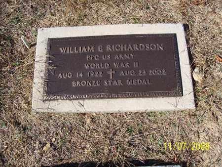 RICHARDSON (VETERAN WWII), WILLIAM E - Randolph County, Arkansas   WILLIAM E RICHARDSON (VETERAN WWII) - Arkansas Gravestone Photos