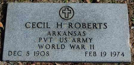ROBERTS (VETERAN WWII), CECIL H - Randolph County, Arkansas   CECIL H ROBERTS (VETERAN WWII) - Arkansas Gravestone Photos