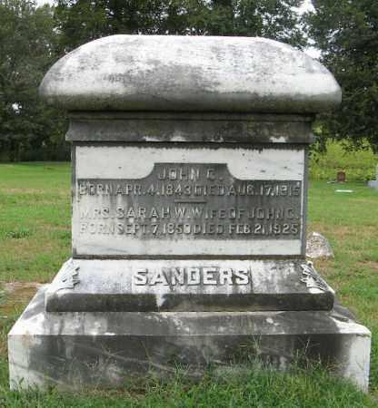 SANDERS, JOHN C - Randolph County, Arkansas | JOHN C SANDERS - Arkansas Gravestone Photos