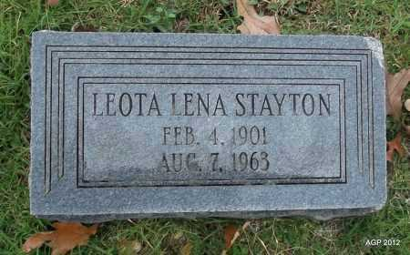 STAYTON, LEOTA LENA - Randolph County, Arkansas | LEOTA LENA STAYTON - Arkansas Gravestone Photos