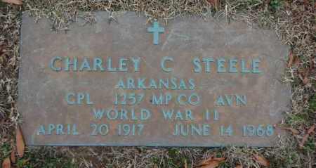 STEELE (VETERAN WWII), CHARLEY C - Randolph County, Arkansas   CHARLEY C STEELE (VETERAN WWII) - Arkansas Gravestone Photos
