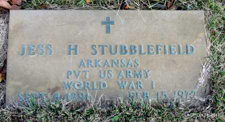 STUBBLEFIELD (VETERAN WWI), JESS HITE - Randolph County, Arkansas | JESS HITE STUBBLEFIELD (VETERAN WWI) - Arkansas Gravestone Photos