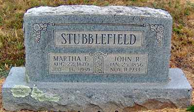 BROWN STUBBLEFIELD, MARTHA ELIZABETH - Randolph County, Arkansas | MARTHA ELIZABETH BROWN STUBBLEFIELD - Arkansas Gravestone Photos