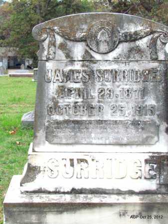 SURRIDGE, JAMES - Randolph County, Arkansas | JAMES SURRIDGE - Arkansas Gravestone Photos