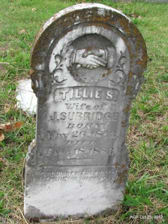SURRIDGE, TILLIE S - Randolph County, Arkansas | TILLIE S SURRIDGE - Arkansas Gravestone Photos