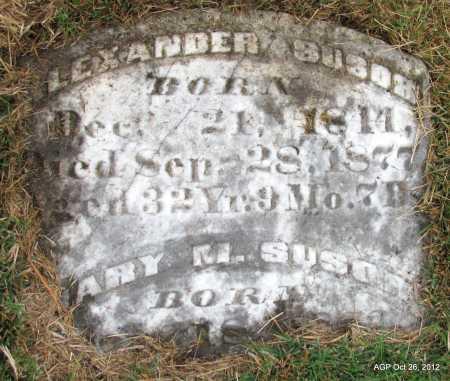 SUSOR, ALEXANDER - Randolph County, Arkansas | ALEXANDER SUSOR - Arkansas Gravestone Photos