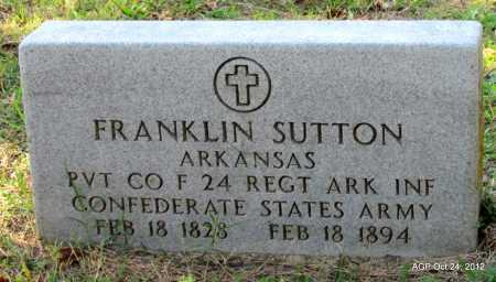 SUTTON (VETERAN CSA), FRANKLIN - Randolph County, Arkansas | FRANKLIN SUTTON (VETERAN CSA) - Arkansas Gravestone Photos