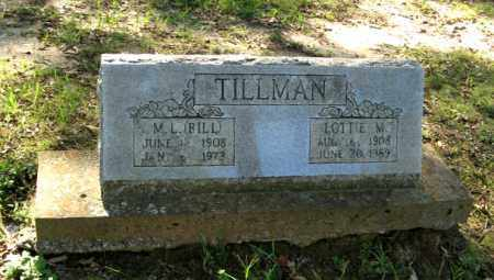 TILLMAN, M. L.  BILL - Randolph County, Arkansas | M. L.  BILL TILLMAN - Arkansas Gravestone Photos