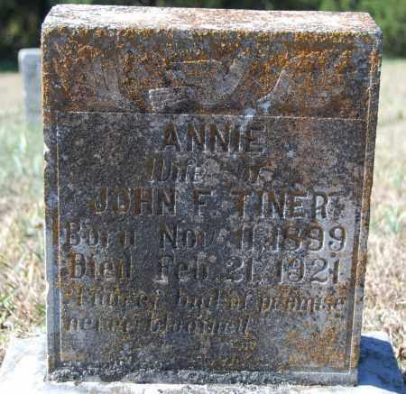 TINER, ANNIE - Randolph County, Arkansas   ANNIE TINER - Arkansas Gravestone Photos