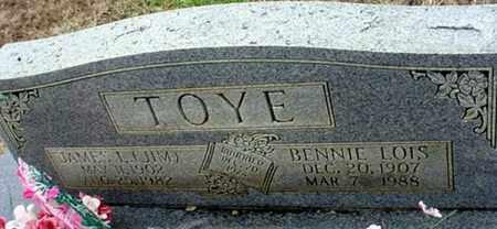 TOYE, BENNIE LOIS - Randolph County, Arkansas | BENNIE LOIS TOYE - Arkansas Gravestone Photos