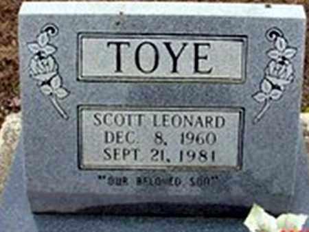 TOYE, SCOTT LEONARD - Randolph County, Arkansas | SCOTT LEONARD TOYE - Arkansas Gravestone Photos