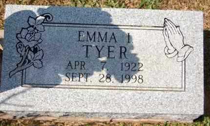 TYER, EMMA I. - Randolph County, Arkansas   EMMA I. TYER - Arkansas Gravestone Photos