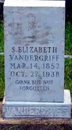 VANDERGRIFF, SARAH ELIZABETH - Randolph County, Arkansas   SARAH ELIZABETH VANDERGRIFF - Arkansas Gravestone Photos
