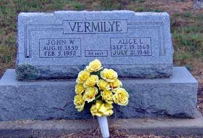 ANDREWS VERMILYE, ALICE L - Randolph County, Arkansas | ALICE L ANDREWS VERMILYE - Arkansas Gravestone Photos