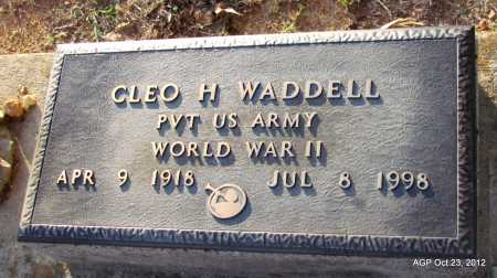 WADDELL (VETERAN WWII), CLEO H - Randolph County, Arkansas | CLEO H WADDELL (VETERAN WWII) - Arkansas Gravestone Photos