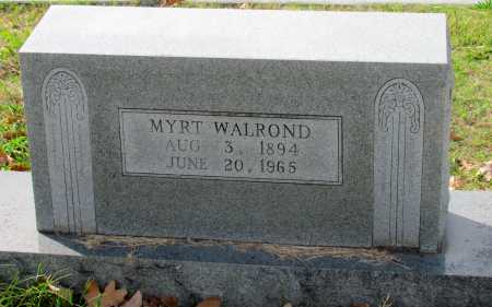 WALROND, MYRT - Randolph County, Arkansas | MYRT WALROND - Arkansas Gravestone Photos
