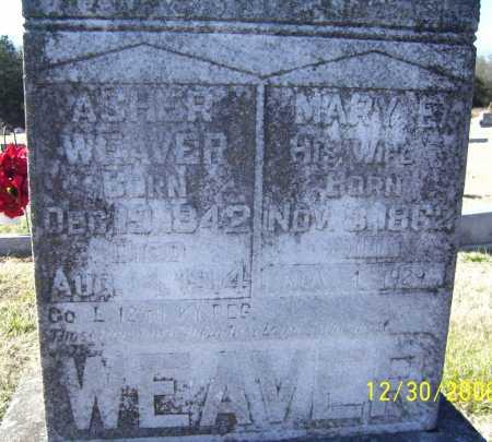 ASH WEAVER, MARY E. - Randolph County, Arkansas | MARY E. ASH WEAVER - Arkansas Gravestone Photos