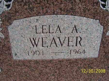 WEAVER, LELA A. - Randolph County, Arkansas | LELA A. WEAVER - Arkansas Gravestone Photos