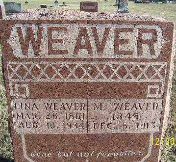 WEAVER, LINA - Randolph County, Arkansas | LINA WEAVER - Arkansas Gravestone Photos