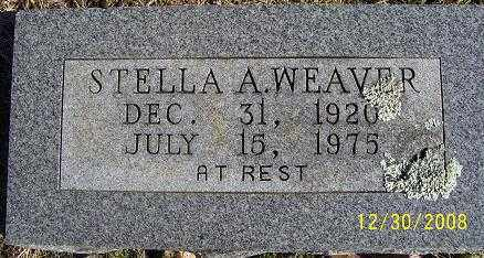 WEAVER, STELLA A. - Randolph County, Arkansas | STELLA A. WEAVER - Arkansas Gravestone Photos