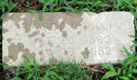 WILLIAMS, MARGARET M. ( CLOSE UP) - Randolph County, Arkansas | MARGARET M. ( CLOSE UP) WILLIAMS - Arkansas Gravestone Photos
