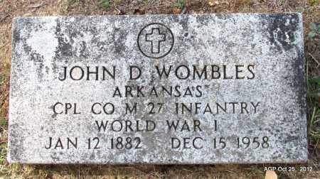 WOMBLES (VETERAN WWI), JOHN D - Randolph County, Arkansas | JOHN D WOMBLES (VETERAN WWI) - Arkansas Gravestone Photos